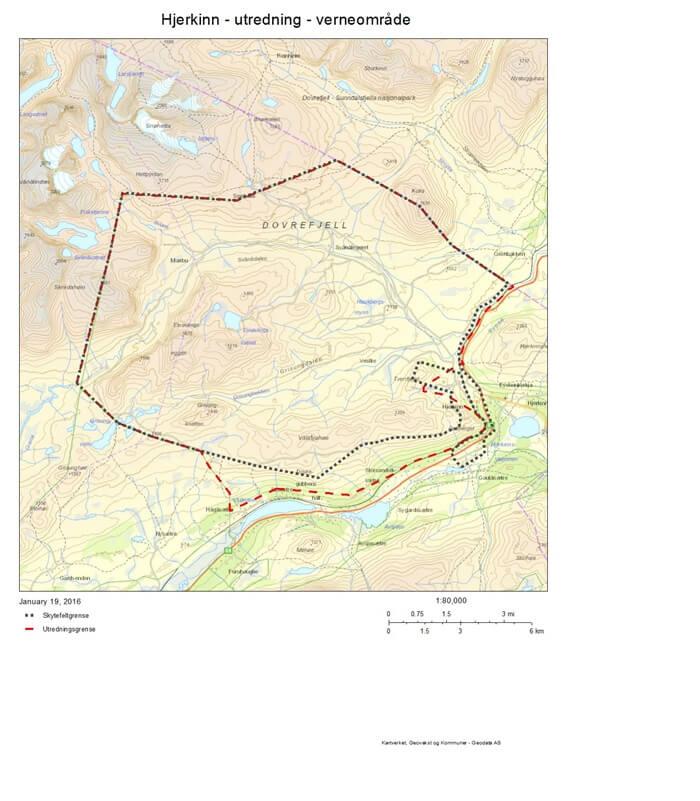 Hjerkinn skytefelt verneområde